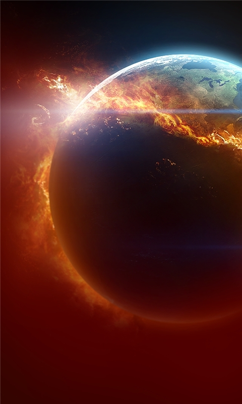 Fire Planet Windows Phone Wallpaper