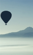 Mountain and Air Ballon