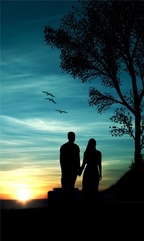 Romantic Sunset Windows Phone Wallpaper
