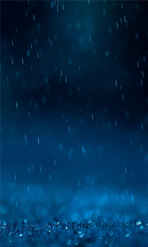 Blue Rain Windows Phone Wallpaper