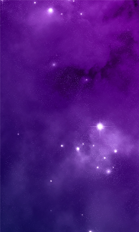 Purple Night Sky Windows Phone Wallpaper