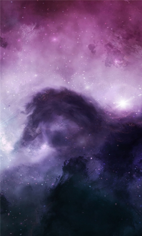 Purple Nebula Windows Phone Wallpaper