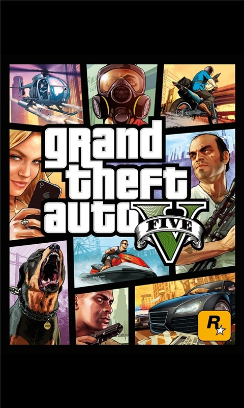 Grand Theft Auto 5 Cover Art Windows Phone Wallpaper