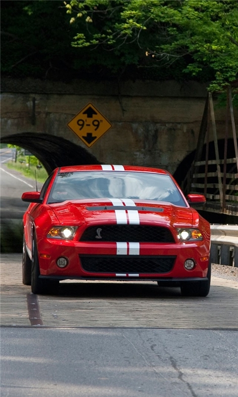 Red Mustang Cobra Windows Phone Wallpaper