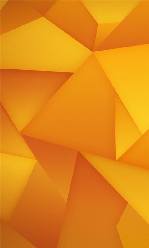 Orange Triangles Windows Phone Wallpaper