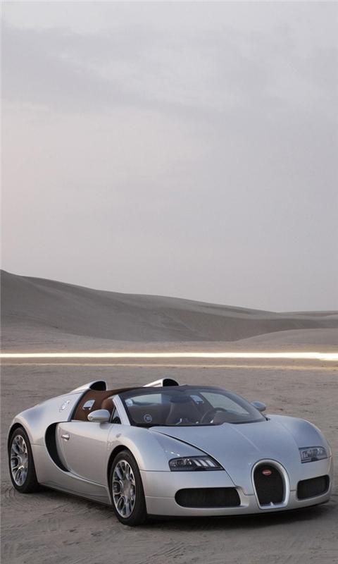 Silver Bugatti Windows Phone Wallpaper