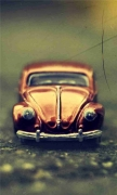 Pixalated Volkswagen Beetle Toy
