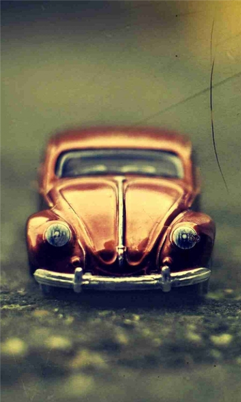 Pixalated Volkswagen Beetle Toy Windows Phone Wallpaper