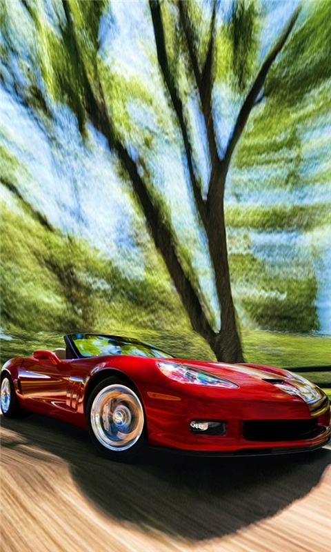 Corvette Red Windows Phone Wallpaper