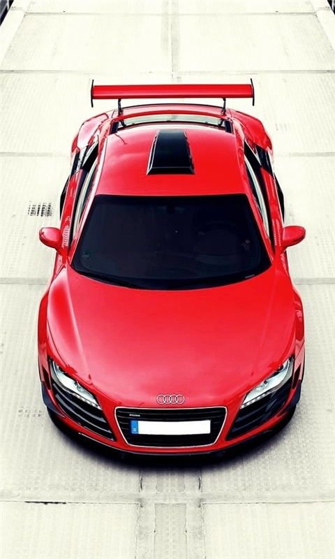 Red Audi R8 Windows Phone Wallpaper