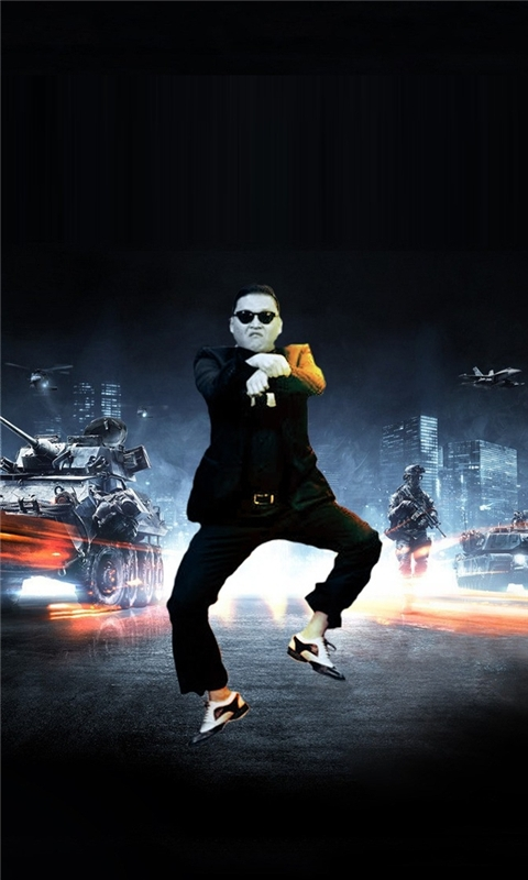 Gangnam Style Psy Battlefield Windows Phone Wallpaper