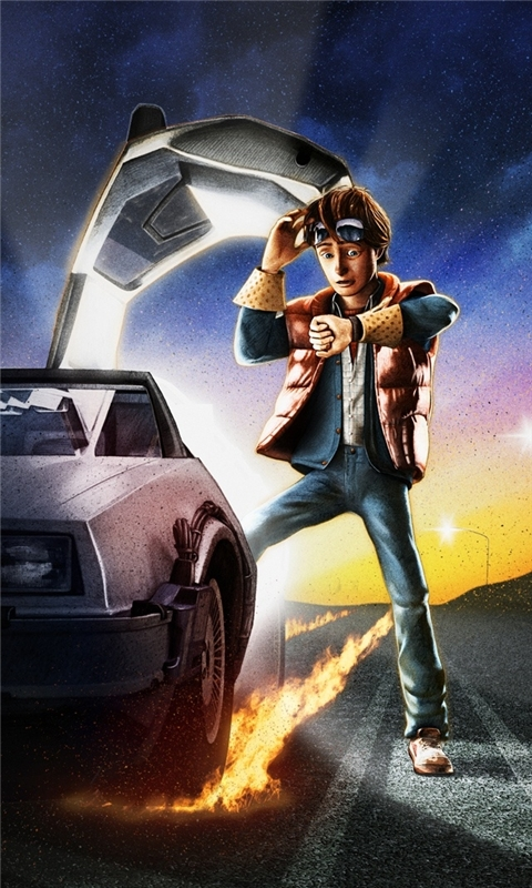 Back to the Future Windows Phone Wallpaper