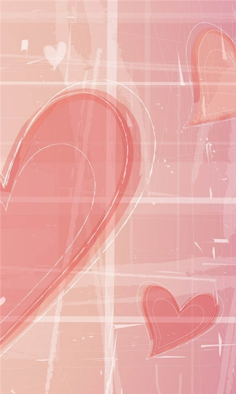 Pink Hearts Windows Phone Wallpaper